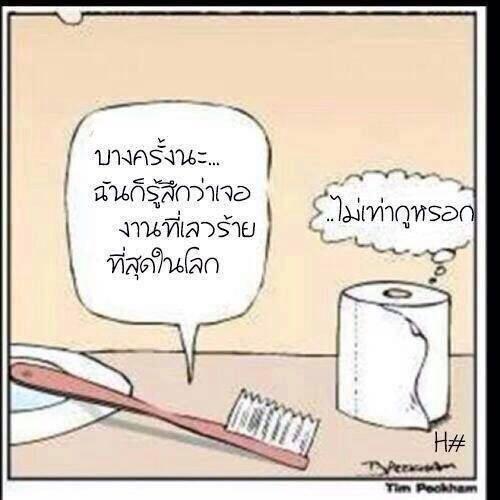 เมื่อแปรงสีฟันกับกระดาษชำระ คุยกันเรื่องงาน